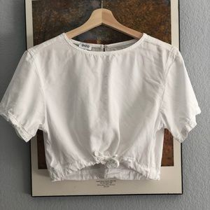 Urban Outfitters Draw string white top